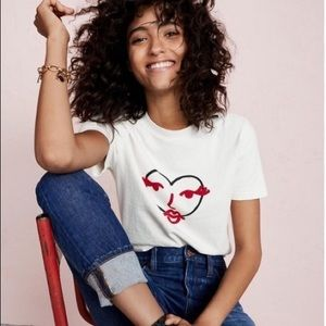 Madewell Limited Edition Heart Face Graphic Tee